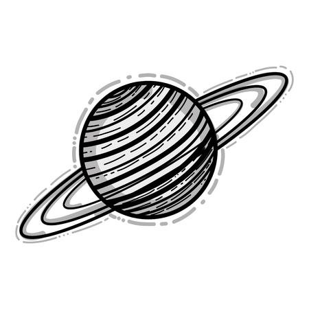 Uranus planet in the galaxy space.