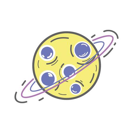 uranus: Uranus planet in the galaxy space.