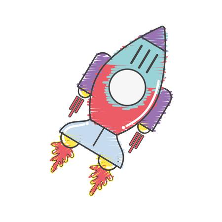 Recorrido del cielo de la galaxia del cohete espacial.