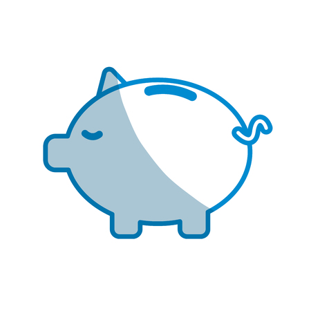 Contour save money inside pig in the home.