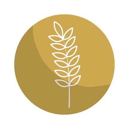 nutritious: Sticker healthy wheat organ plant nutritious. Illustration
