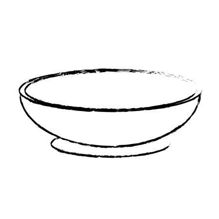 美味しくて健康的な有機食品を準備する輪郭のボウル  イラスト・ベクター素材