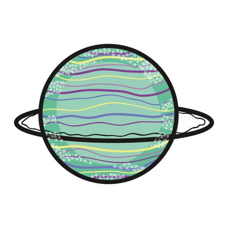 uranus: exploration uranus planet in the galaxy space Illustration