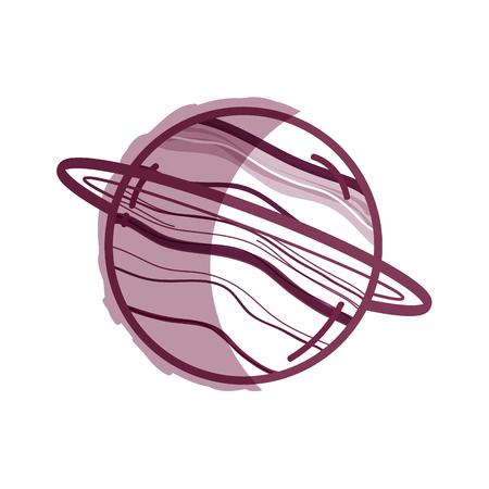 starfield: exploration uranus planet in the galaxy space Illustration