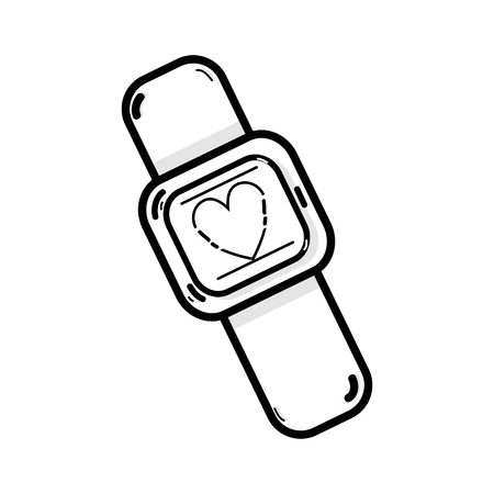 checking: line cute smartwatch technology with fitness app