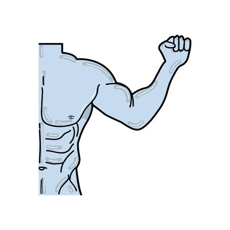 man toned body fitness