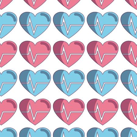 systole: nice heartbeat to cardiac rhythm background