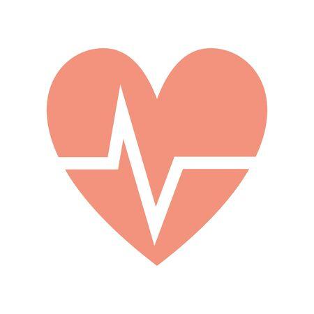 systole: nice heartbeat to cardiac rhythm Illustration