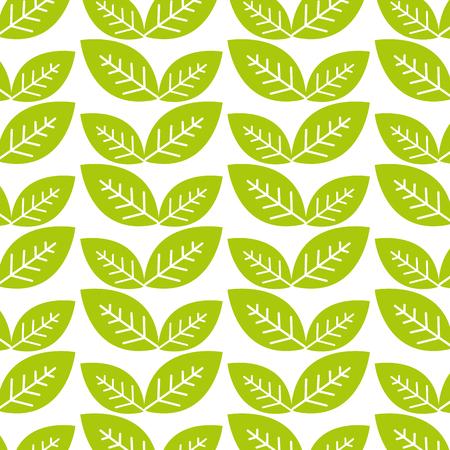 natural green leaves background Illustration