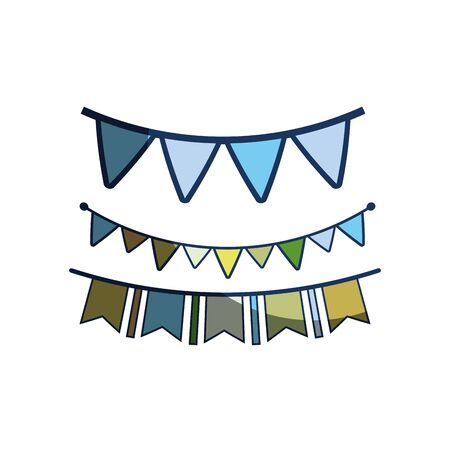 and delighted: party flags to decoration happy birthday Illustration
