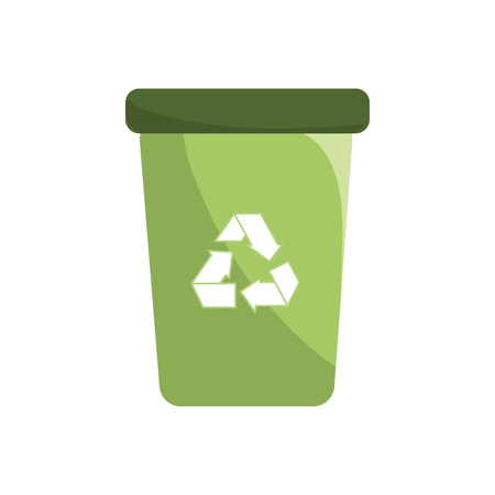 land development: Recycle can trash to care environment, vector illustration Illustration