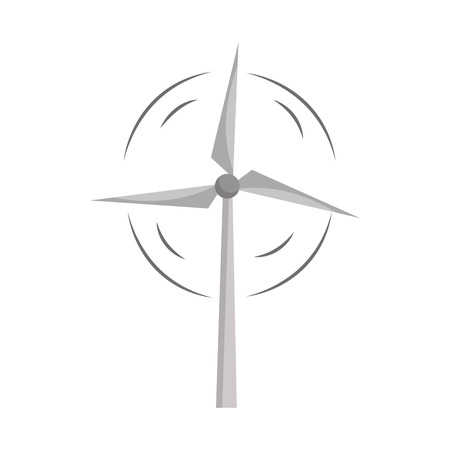 ecologically: Nature and organic windpower ecology care, vector illustration