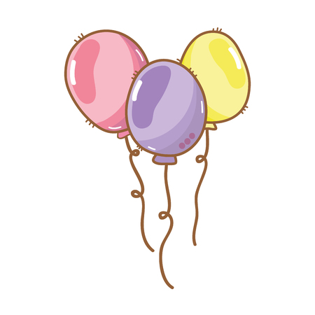 balloons party to happy birthday decoration