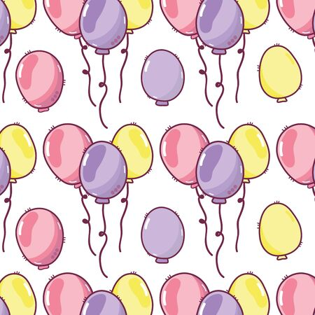 balloons party to happy birthday decoration background