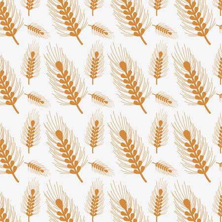 nice emblem of wheat branch design background, vector illustration Illustration
