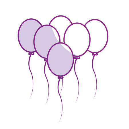 and delighted: silhoutte balloons party to happy birthday decoration