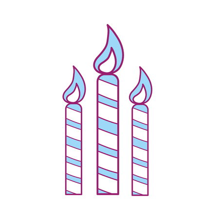 A candles party to cerebrate happy birthday, vector illustration