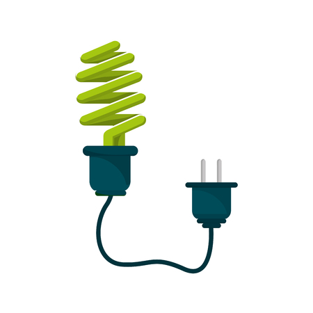 save bulb with power cable Illustration