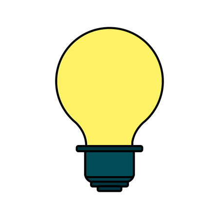 lighted: energy light bulb icon