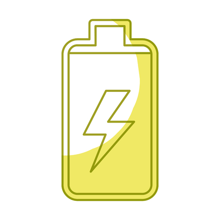 battery power electric digital charge, vector illustration Illustration