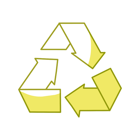 Reduce, recycle and reuse environment symbol, vector illustration.