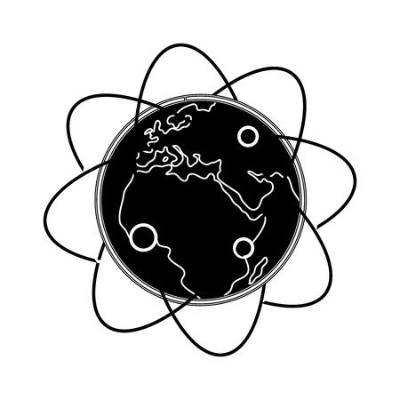 contour geostationary orbits around earth planet