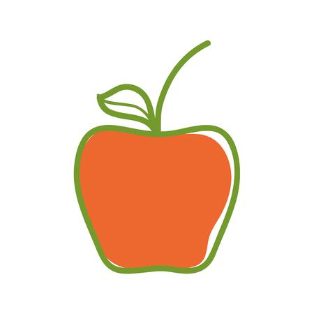 Delicious apple healthy fruit Stock Vector - 77938555
