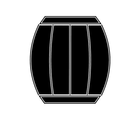 Contour wood barrel of wine beverage tasty Ilustrace