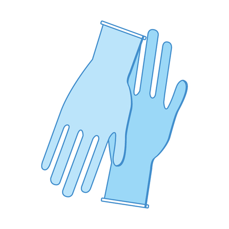 surgical glove: medical latex gloves to protection hands, vector illustration Illustration