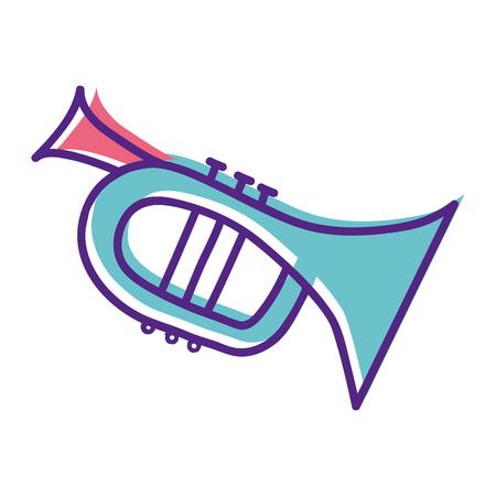 cute trumpet sticker music instruments