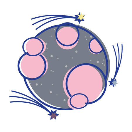 astral: planet in the nebulae space with astral stars Illustration