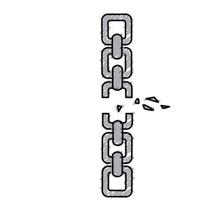 Goede metalen ketting om iets te beschermen Stockfoto - 78530573