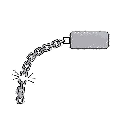 Goede metalen ketting om iets te beschermen Stock Illustratie