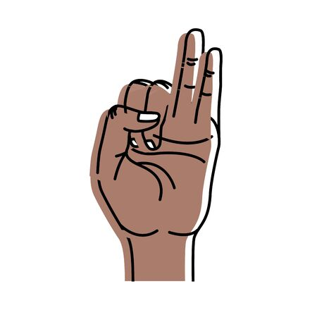 Little and ring finger pointing up symbol