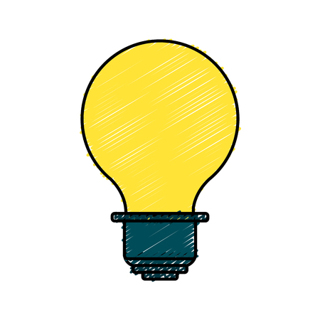Energy light bulb icon