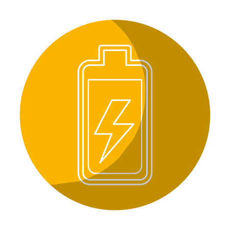 Sticker battery power electric digital charge Illustration