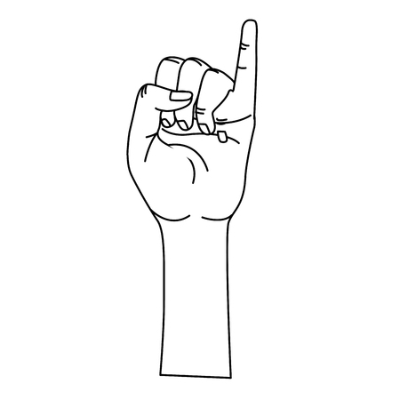Cute hand with pinky up symbol