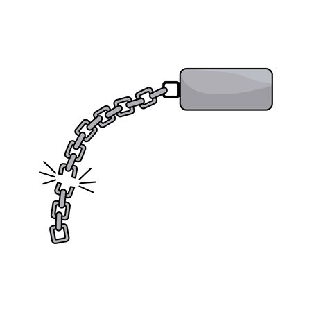 good metal chain to protect something Illustration