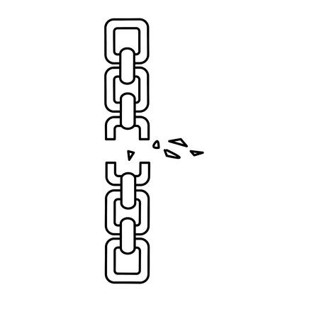 lijn goede metalen ketting om iets te beschermen