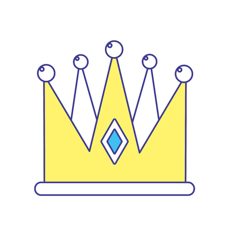 Nice crown of king to glory and power, vector illustration
