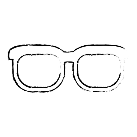 oculist: Figure nice glasses accessory to see, vector illustration