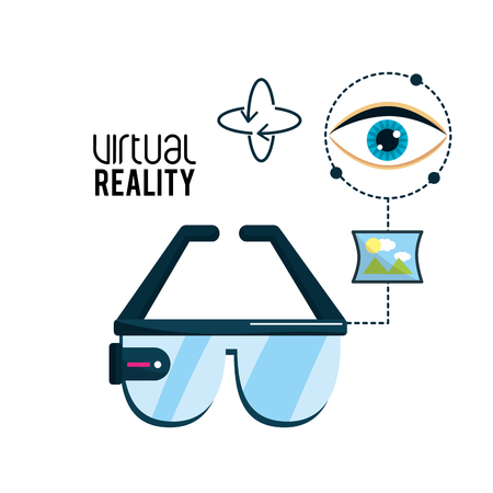 virtual reality glasses and visual experience Illustration