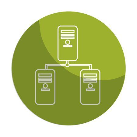 mobile apps: sticker banner data center digital connection