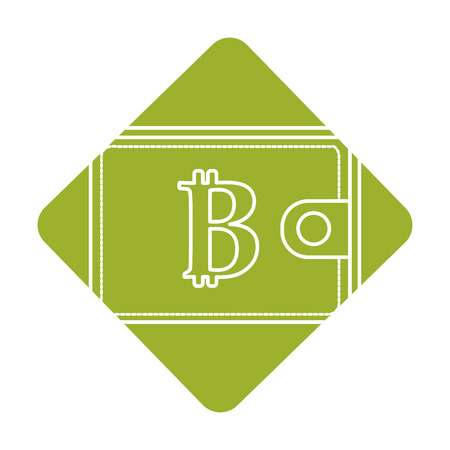 label bitcoin symbon in the wallet to save money