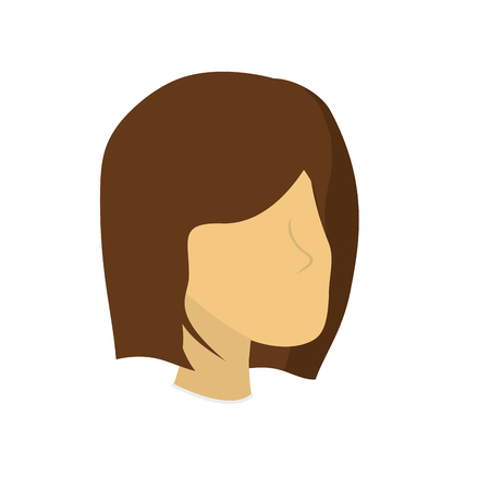 business woman: beauty woman face with hairstyle, vector illustration
