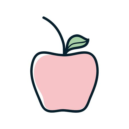 Delicious apple healthy fruit, vector illustration design