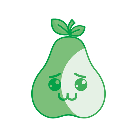 silhouette nice shy pear icon, vector illustration