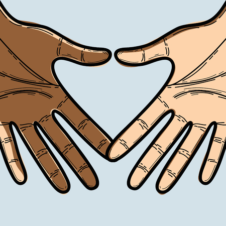 proclamation: hands together to celebrate freedom day, vector illustration
