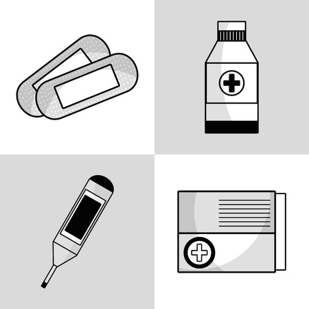 tratment: set medical tratment with first aid tools