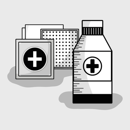gauze: medical care tools to first aid Illustration